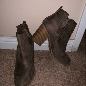 SODA taupe booties